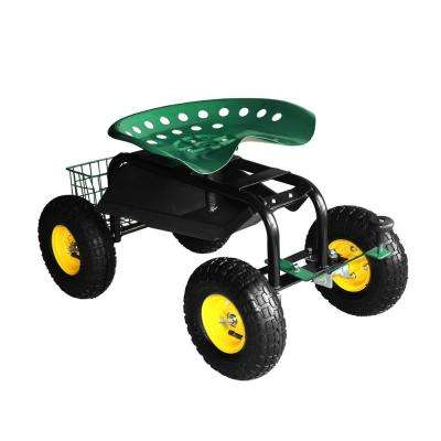 Rolling Garden Cart with Tool Tray