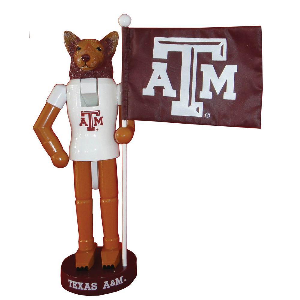 12 in. Texas A & M Mascot Nutcracker with Flag
