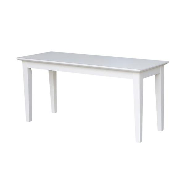 International Concepts Unfinished Bench Be 39 The Home Depot