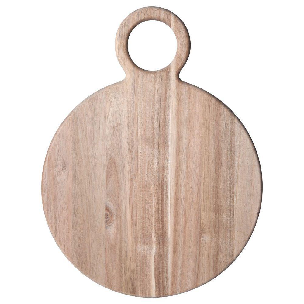 Pfaltzgraff 21 in. Natural Round Acacia Wood Cheese Board
