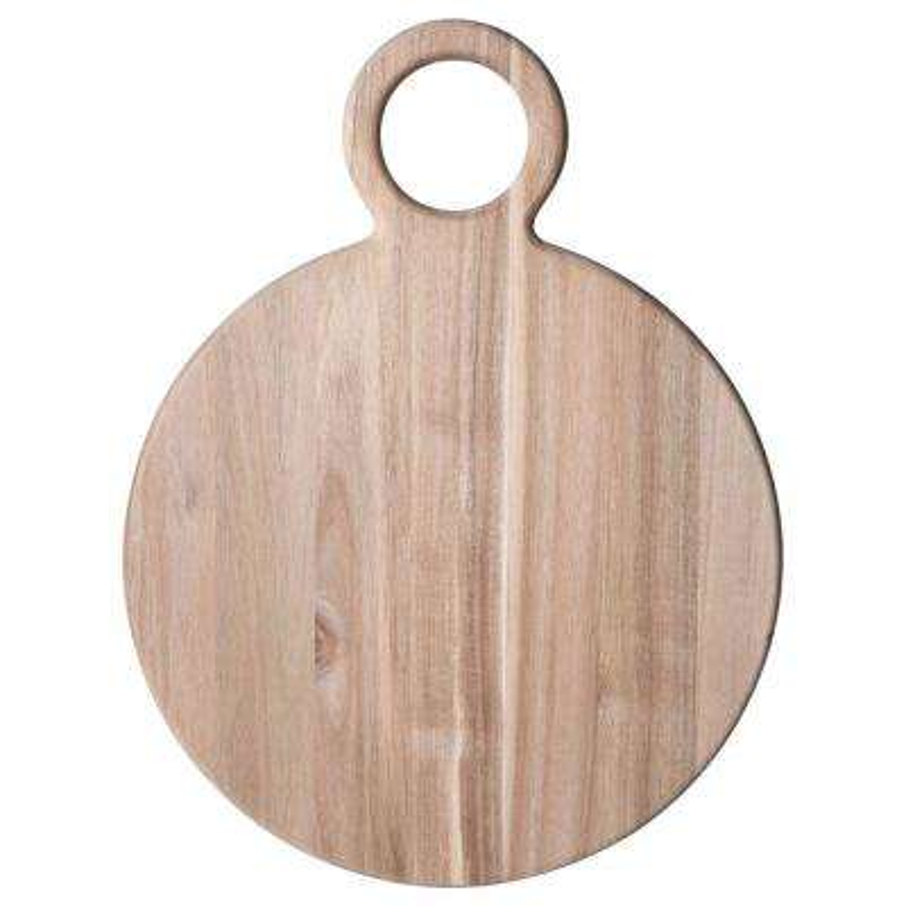 21 in. Natural Round Acacia Wood Cheese Board