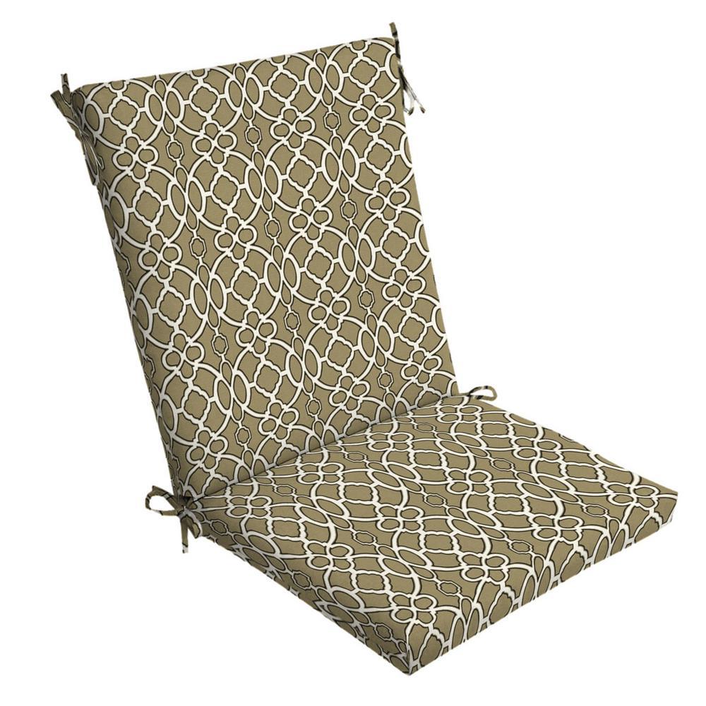 Arden Selections Sandstone Sinclair Trellis Outdoor Dining Chair Cushion
