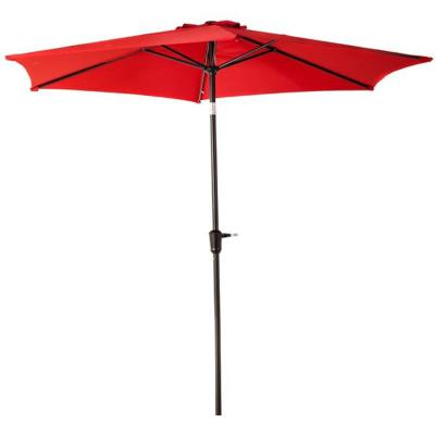 9 ft. Market Patio Umbrella with Tilt in Red
