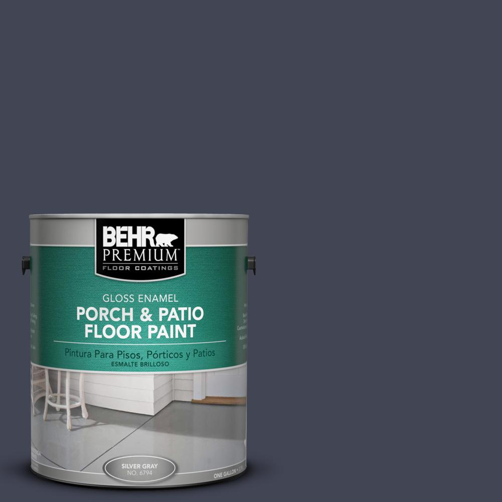 1 gal. #PPU15-19 Black Sapphire Gloss Porch and Patio Floor Paint