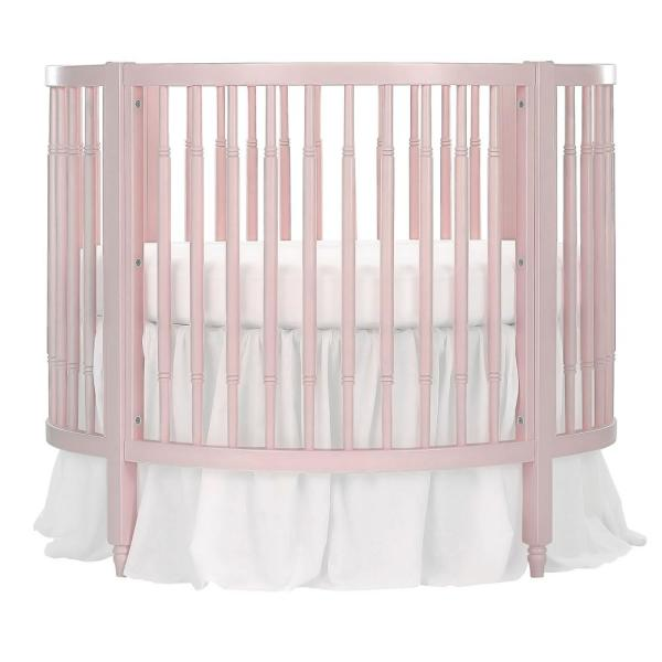 Dream On Me Sophia Posh Blush Pink Circular Crib