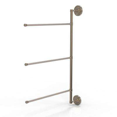 Prestige Regal Collection 3 Swing Arm Vertical 28 in. Towel Bar in Antique Pewter