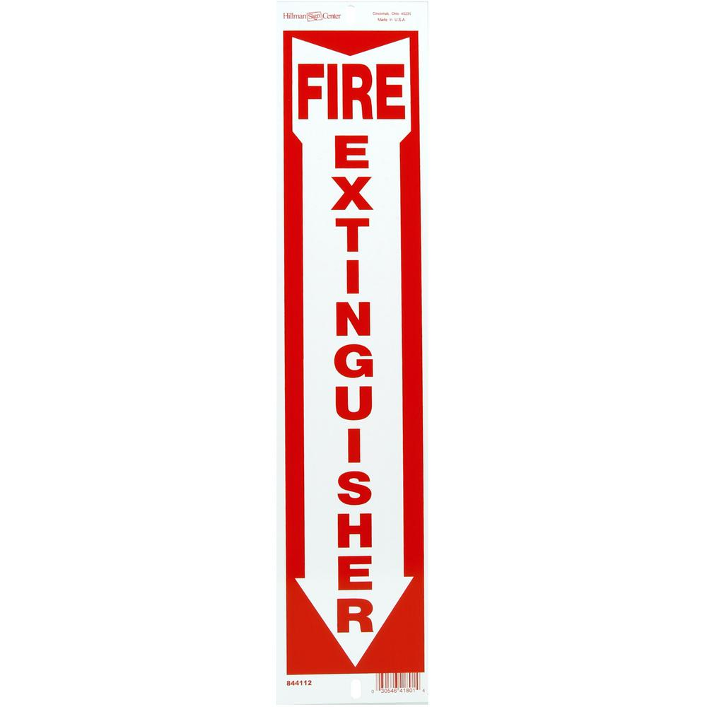 Everbilt 4 in. x 18 in. Fire Extinguisher Sign