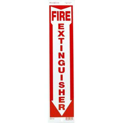 4 in. x 18 in. Fire Extinguisher Sign