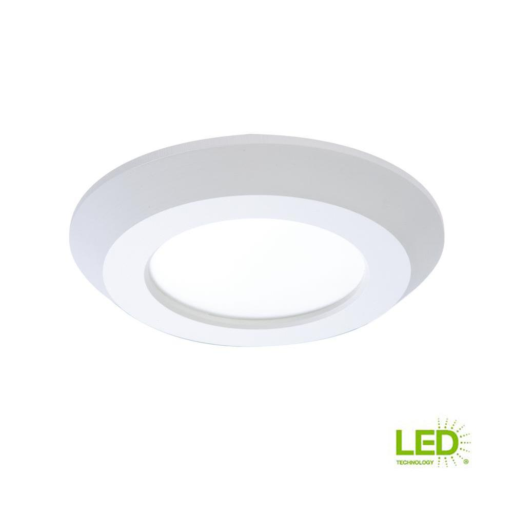 SLD 4 in. White Integrated LED Recessed Retrofit Ceiling Mount Light