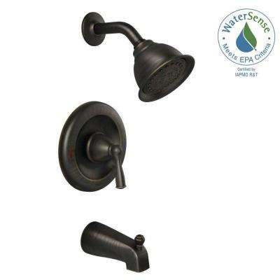Banbury Single-Handle 1-Spray 1.75 GPM Tub and Shower Faucet with Valve in Mediterranean Bronze (Valve Included)
