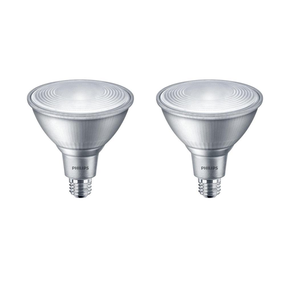 90-Watt Equivalent PAR38 Dimmable LED Classic Glass Energy Star Flood Bright White (3000K) (2-Pack)