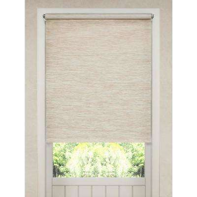 Cut-to-Size Heather Tan Cordless Light Filtering Natural Fiber Roller Shade 53.5 in. W x 72 in. L