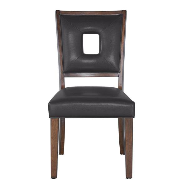 Steve Silver Toulon Contemporary DarK Brown Side Chair  (Set of 2)