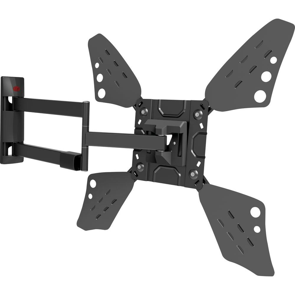 Full Motion Curved/Flat Panel Dual Arm TV Wall Mount for 32