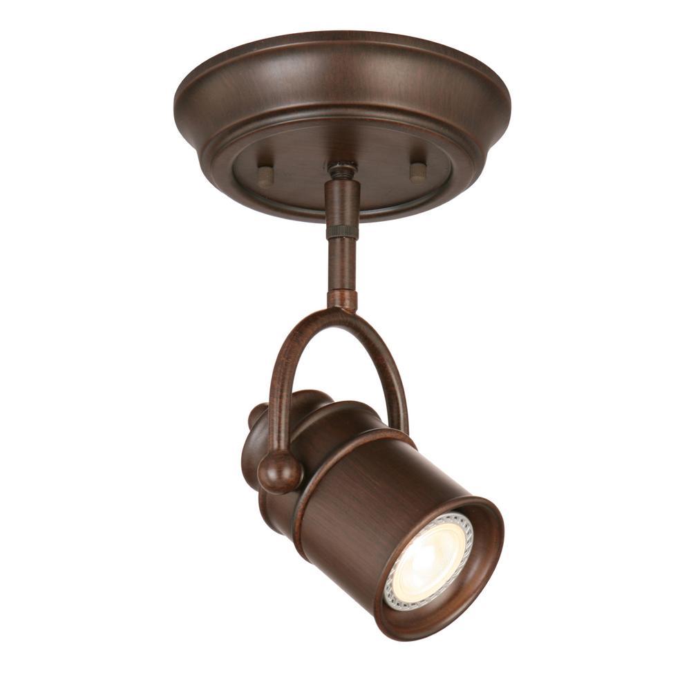 Sheridan 5-Watt 1-Light in Oil Rubbed Bronze Integrated LED Flushmount Directional Lighting