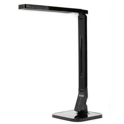 21 in. Black Desk Lamp with USB Charging, Dimming and Color Changing