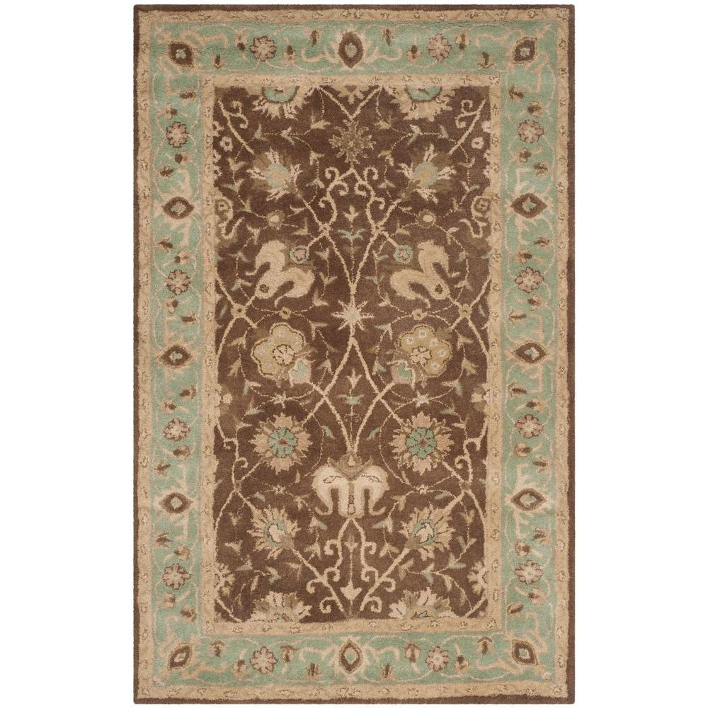 Safavieh Antiquity Brown/Green 5 Ft. X 8 Ft. Area Rug