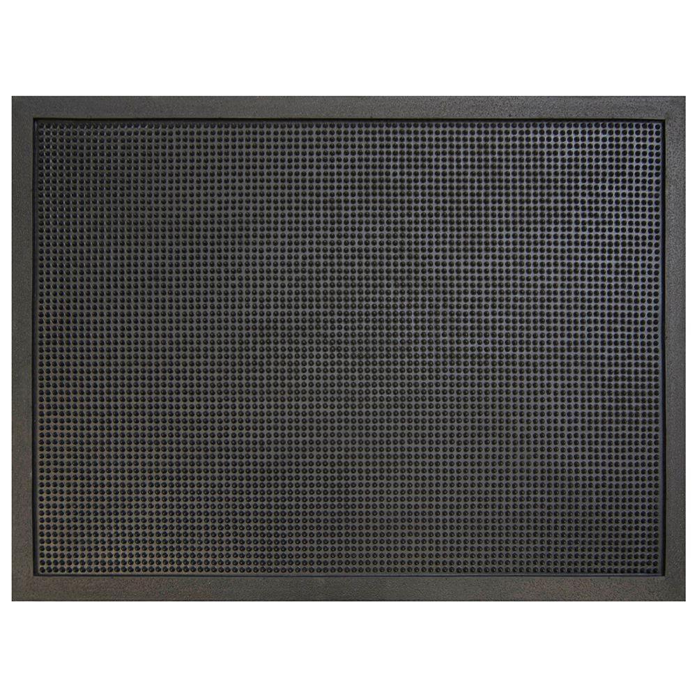 Multy Home Pin Dot Black 36 In. X 48 In. Rubber Commercial Door Mat MT1003444    The Home Depot