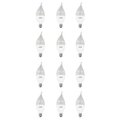 40W Equivalent Warm White (3000K) CA10 Candelabra Dimmable LED Cold Start Light Bulb (12-Pack)
