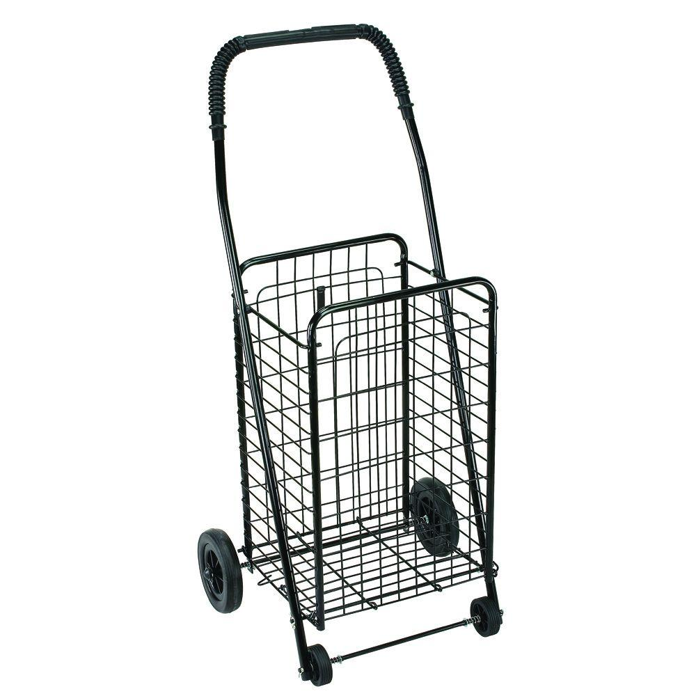 Go Home Black Industrial Kitchen Cart At Lowes Com: DMI Folding Shopping Cart-640-8213-0200