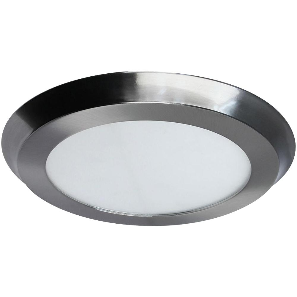 Home decorators collection 22 watt 15 in nickel integrated led flat round panel flush mount