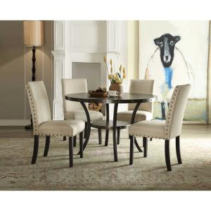 HomeRoots Amelia 4-Seater Oak Round Dining Table 286012 ...