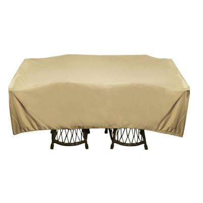 96 in. Khaki Square Patio Table Set Cover