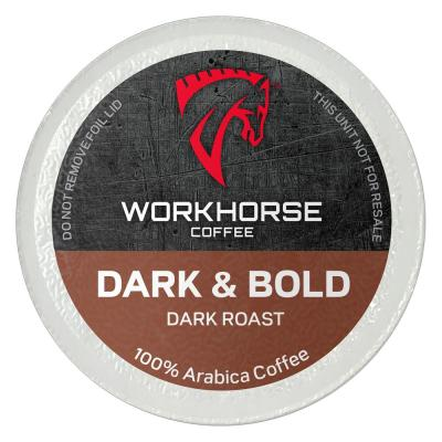 Workhorse Coffee Dark and Bold Coffee Pods (36 Single Serve Cups per Box)