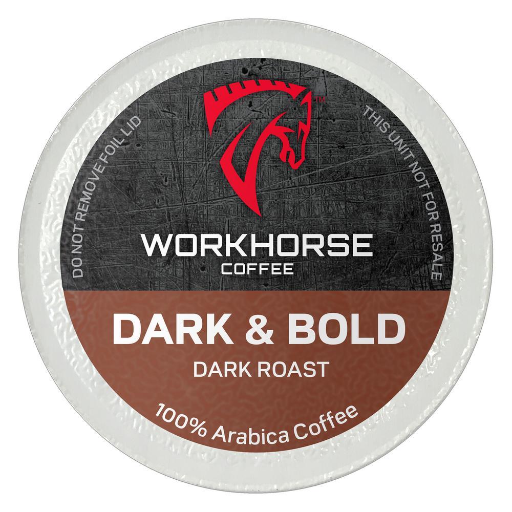 Workhorse Coffee Dark And Bold Pods 36 Single Serve Cups Per Box