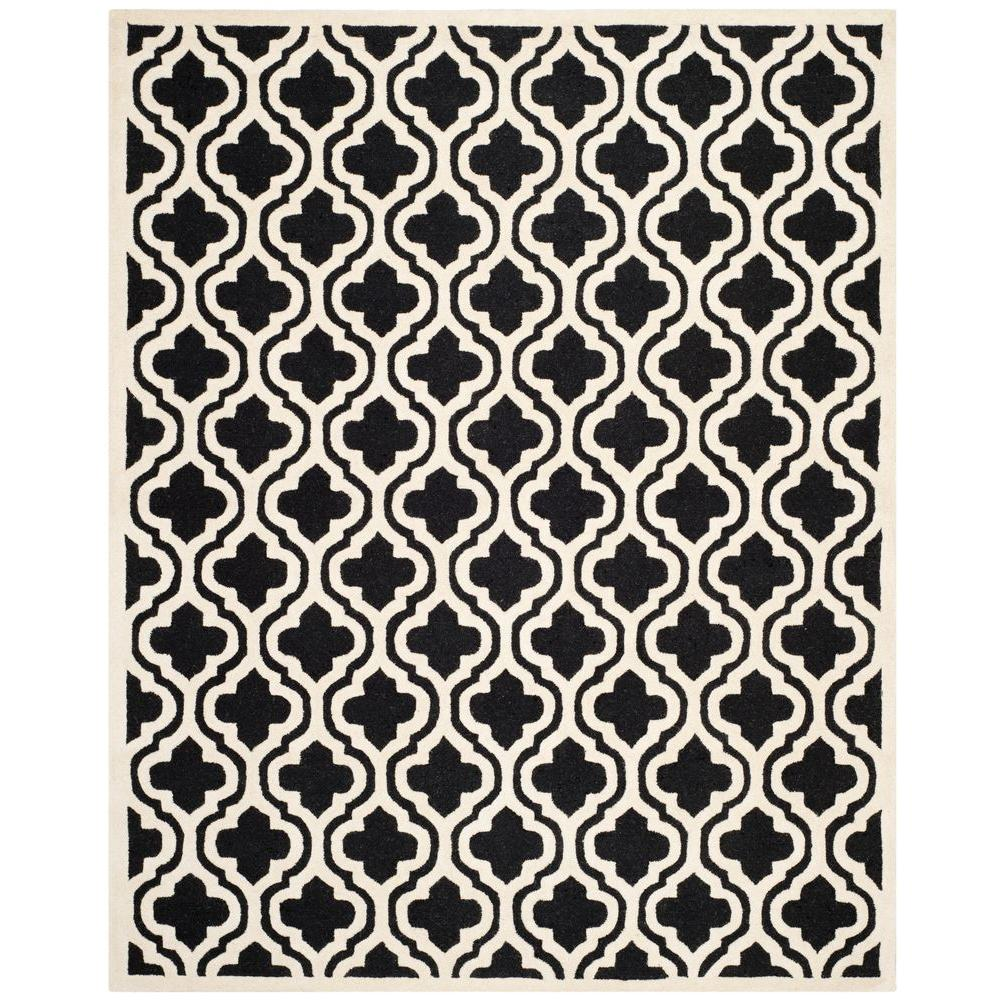 Cambridge Black/Ivory 9 ft. x 12 ft. Area Rug