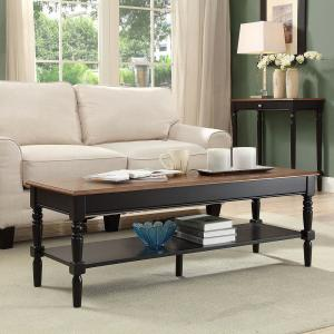 Internet #302768744. Convenience Concepts French Country Dark Walnut And  Black Coffee Table