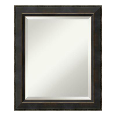 Signore 21 in. W x 25 in. H Framed Rectangular Bathroom Vanity Mirror in Bronze