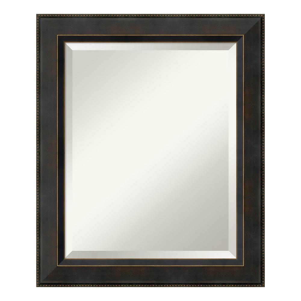Amanti Art Signore Bronze Wood 21 in. W x 25 in. H Traditional Bathroom Vanity Mirror