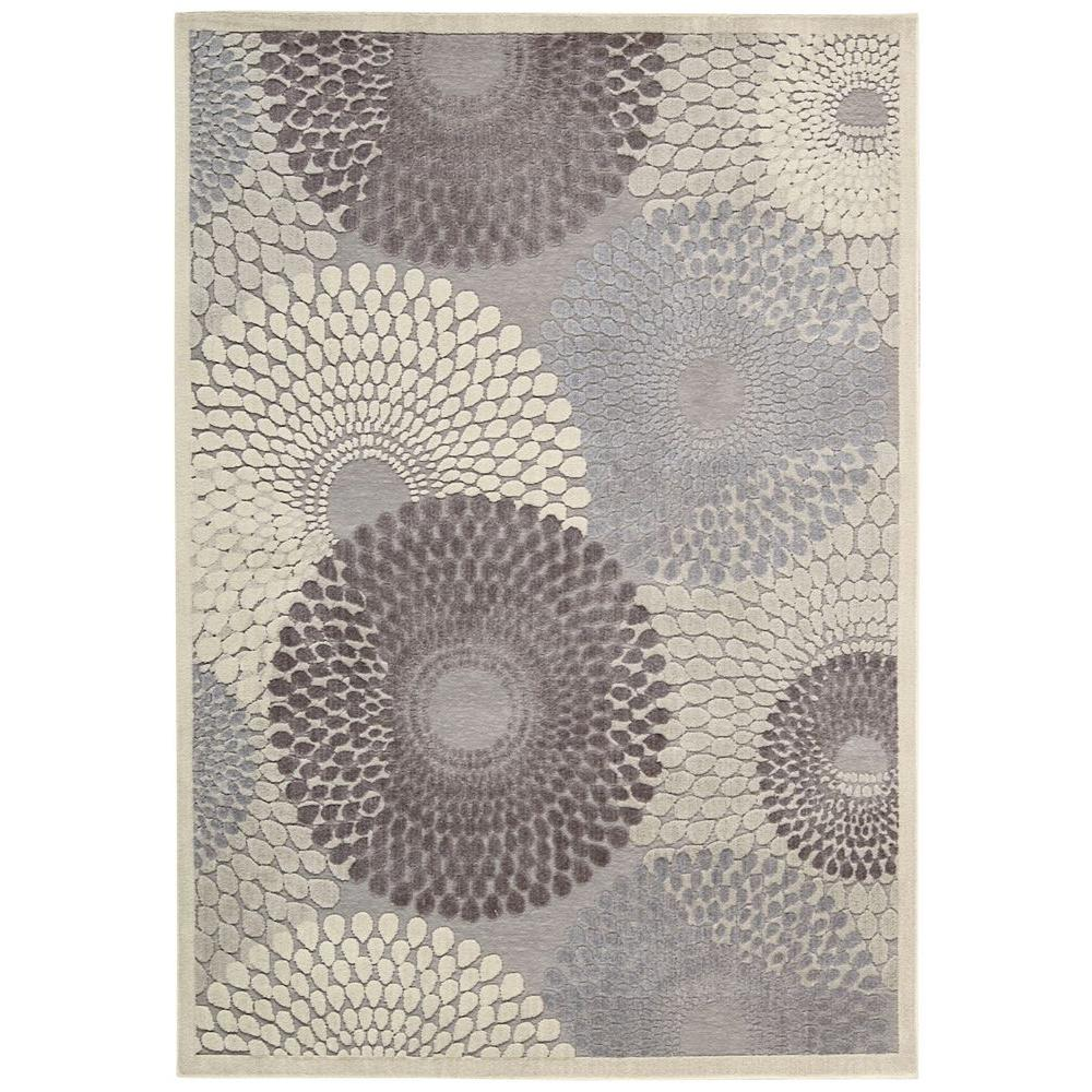 Nourison Graphic Illusions Grey 8 ft. x 11 ft. Area Rug