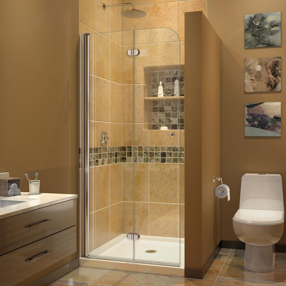 Amazing DreamLine Aqua Fold 33.5 In. X 72 In. Semi Frameless Hinged Shower Door