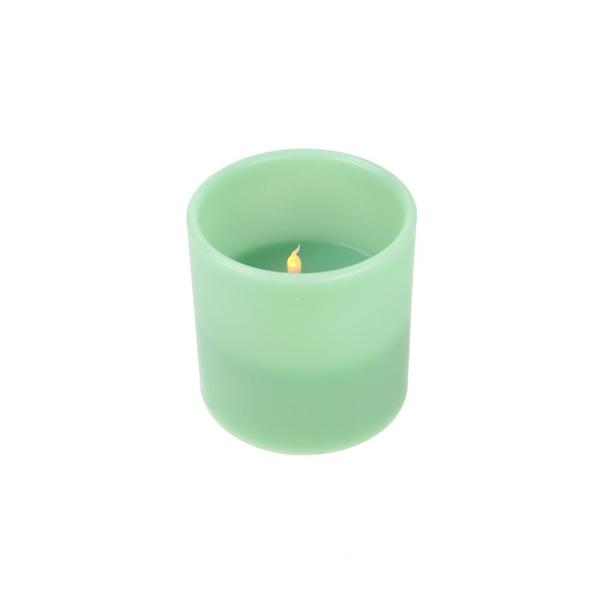 Northlight 6 in. Sage Green Battery Operated Flameless LED Lighted 3-Wick
