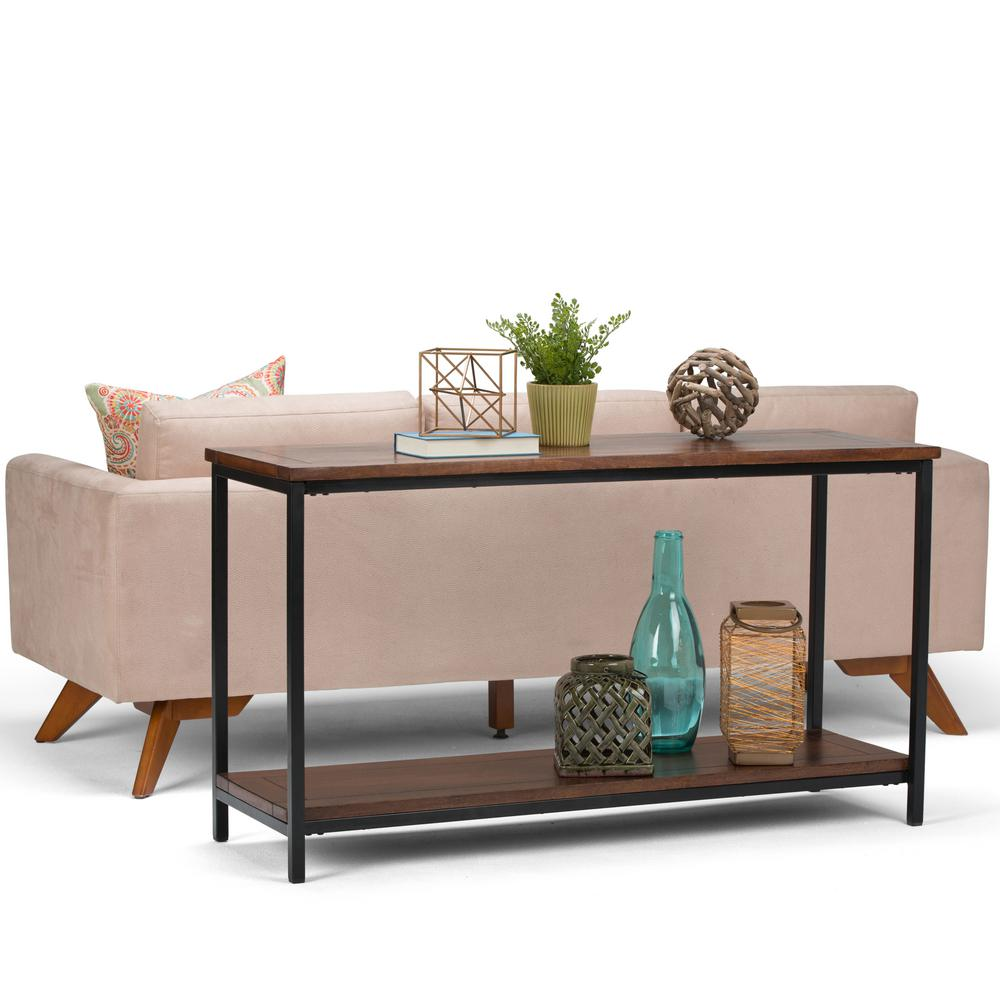 Simpli home skyler dark cognac brown console table 3axcsky 04 simpli home skyler dark cognac brown console table geotapseo Image collections