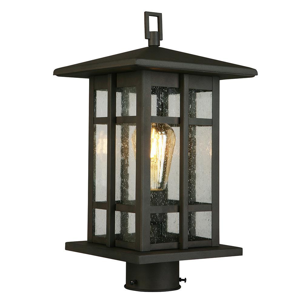 Arlington Creek 1-Light Outdoor Matte Bronze Post Light