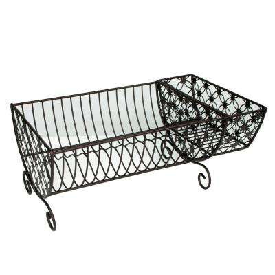 18.11 in.  x 11.00 in. x 7.50 in. Decorative Dish Rack