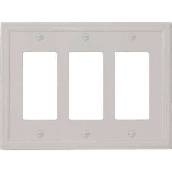 Hampton Bay Gray 3 Gang Gfci Wall Plate 1 Pack Swp1107 32 The Home Depot