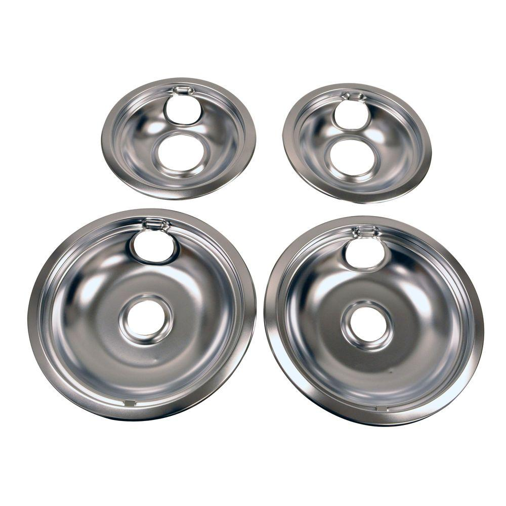 Whirlpool drip pan kit in chrome w10278125 the home depot publicscrutiny Images