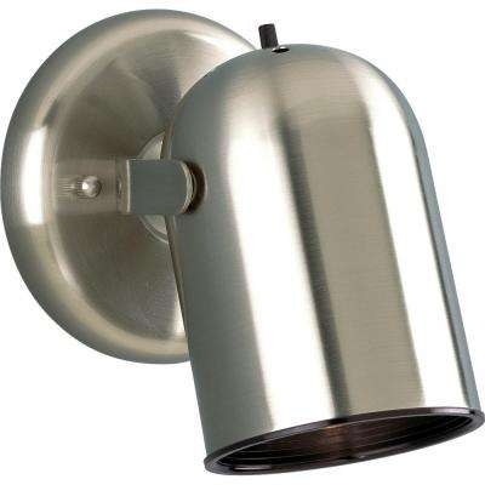 1-Light Brushed Nickel Spotlight Fixture