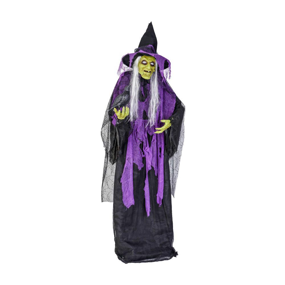Home Accents Holiday 72 in. Witch with Raven