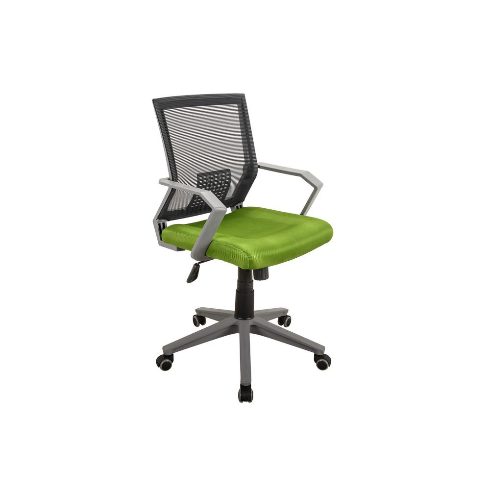 Techni Mobili Green Rolling Height Adjule Mesh Office Task Chair