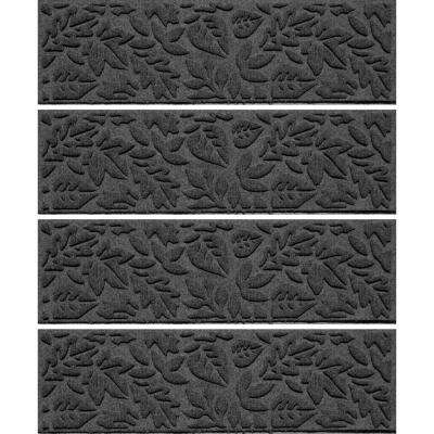 Charcoal 8.5in.x 30in. Fall Day Stair Tread Cover (Set of 4)