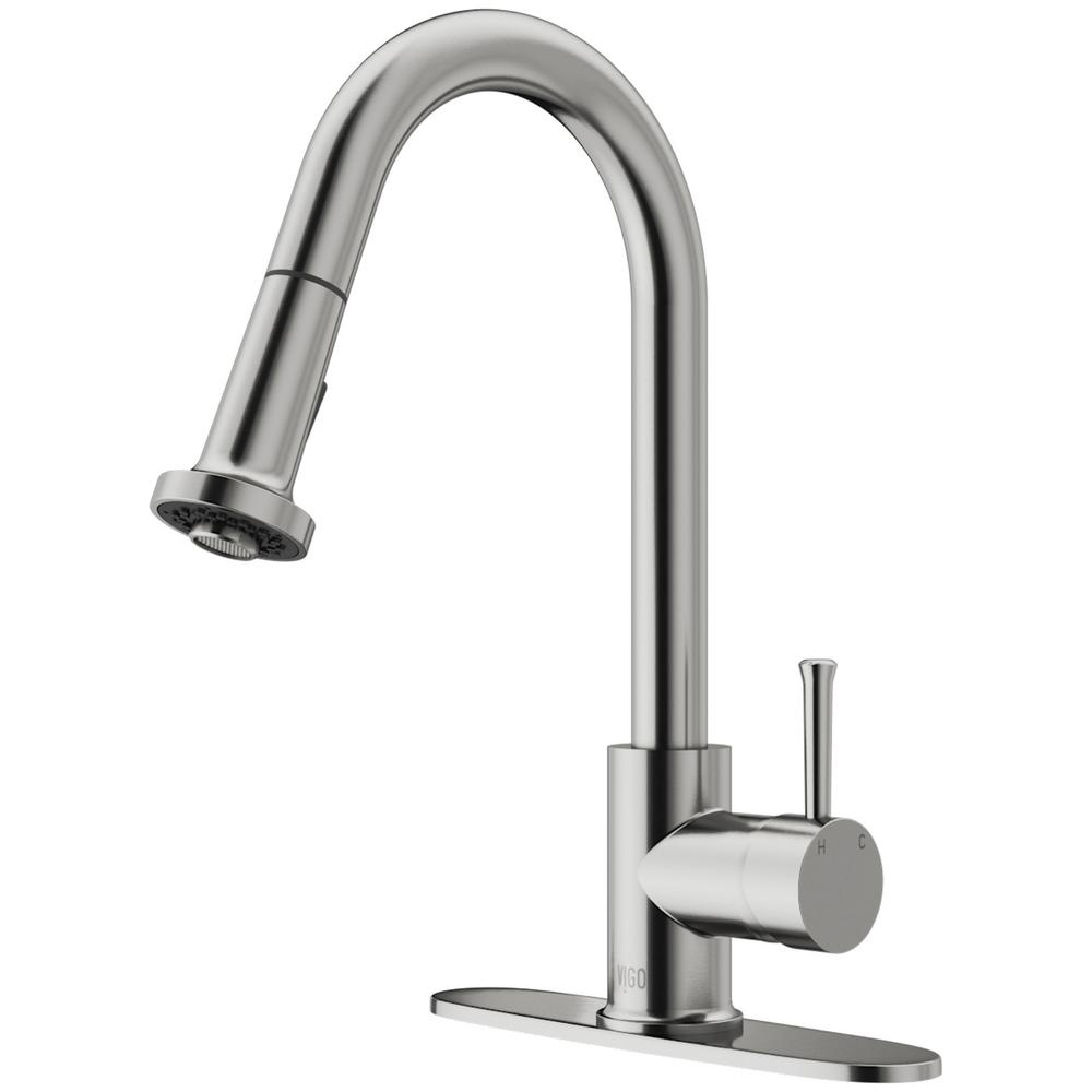 Solid Stainless Steel Pull Down Kitchen Faucets