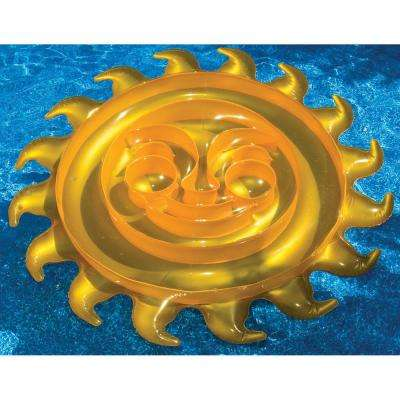 83 in. Gold Sun Pool Float