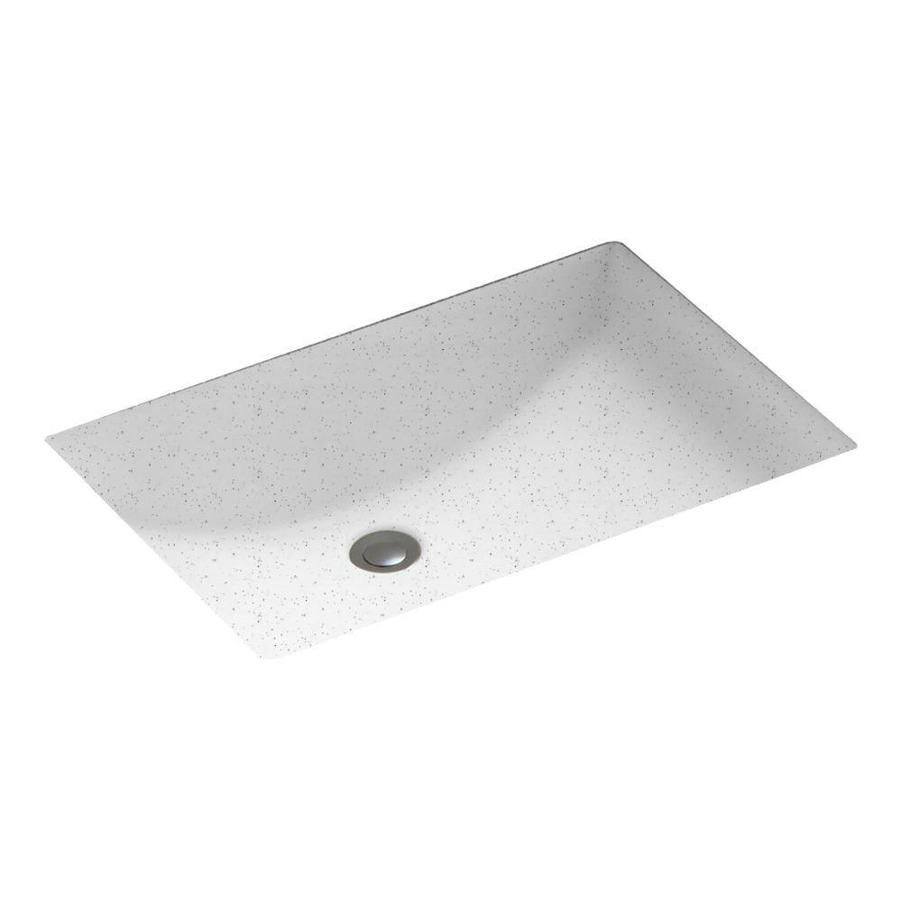 Contour Undermount Bathroom Sink in Arctic Granite
