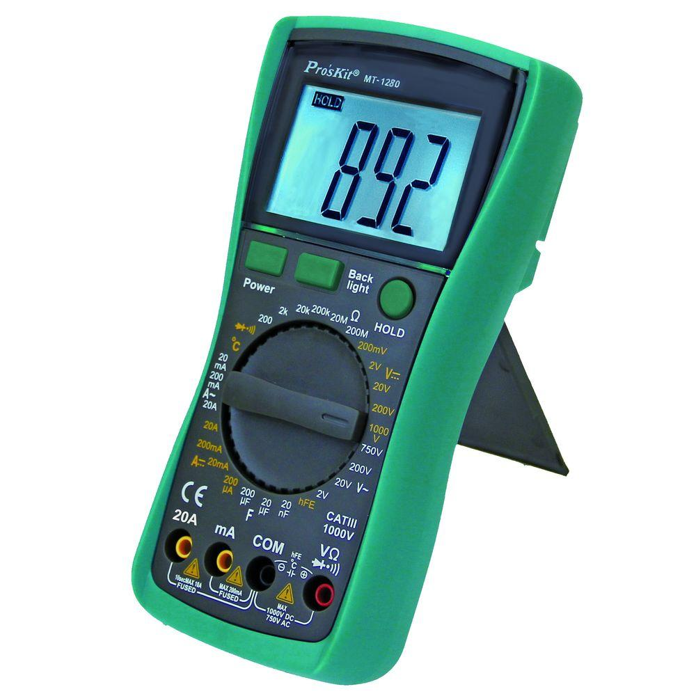 digital multimeter mt 1280 the home depot. Black Bedroom Furniture Sets. Home Design Ideas