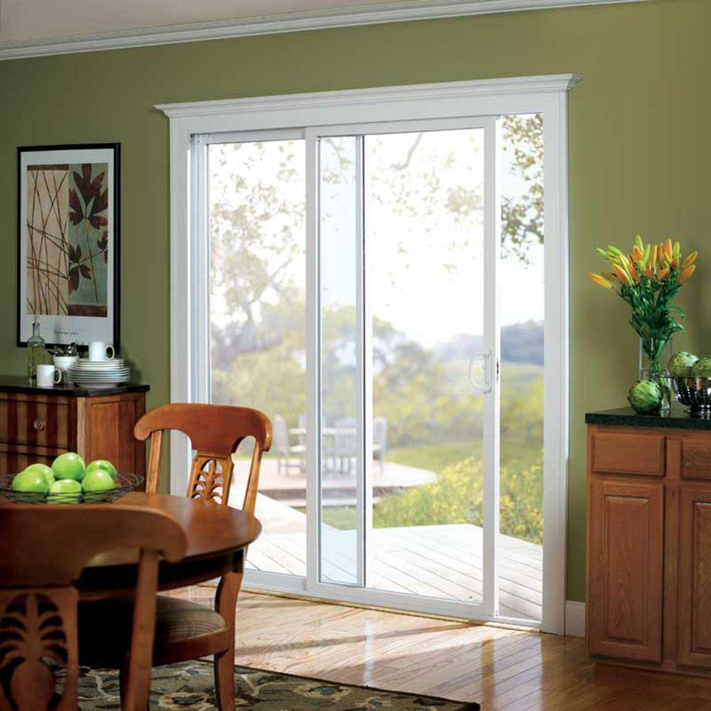 American Craftsman 72 In X 80 In 50 Series White Vinyl Right Hand Sliding Patio Door 60557ra The Home Depot